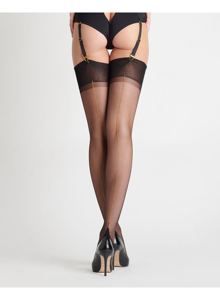 Maison Close Les Coquetteries Retro Gold Back Seam Stockings