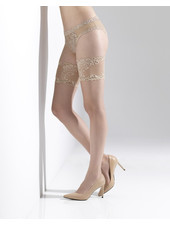 Silky Sheer Lace Top Stockings