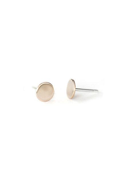 Upper Metal Class Bronze Circle Earring