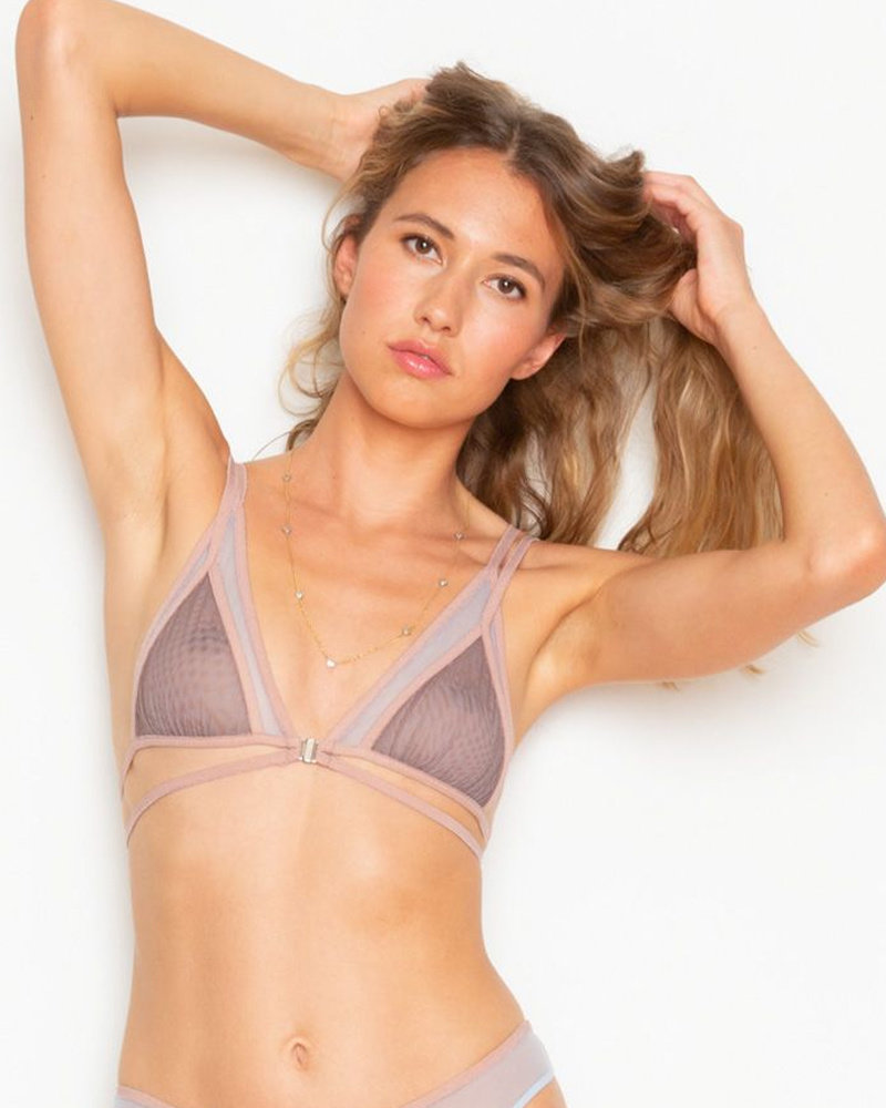 Only Hearts Whisper Color Block Triangle Bralette