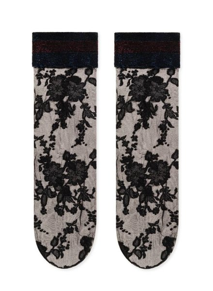 Hansel from Basel Jacquard Floral Sheer Trouser Crew
