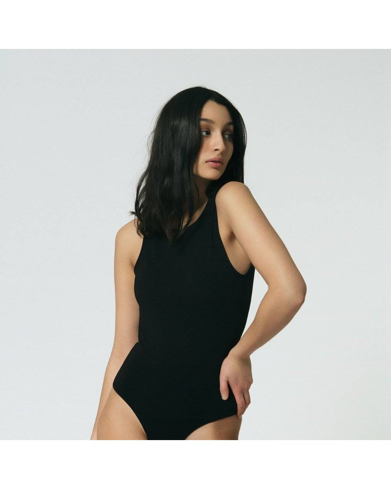 Mary Young Backless Thong Bodysuit