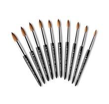 100% Kolinsky Acrylic Nail Brush Black Matte #14