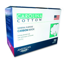Carolina USA MADE Carbon Filter Face Mask 50/box
