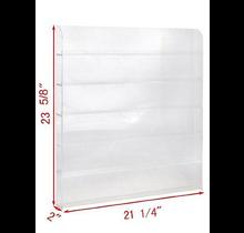 "Acrylic Wall Rack 120 Bottles 21.25"" W x 23.5"" H"