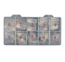 COFFIN Clear Tips Box 500 pcs