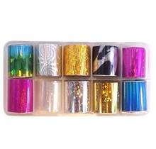 Colorful Nail Foil Jar