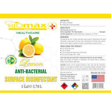 Biomax EPA Approved Surface Disinfectant Lemon Gallon Single