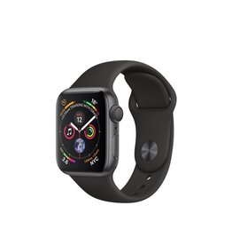 Apple Apple Watch Series4 GPS, 40MM Space Grey Aluminium Case With Black Sport Band