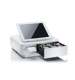mPOP Cash drawer with integrated receipt printer Black