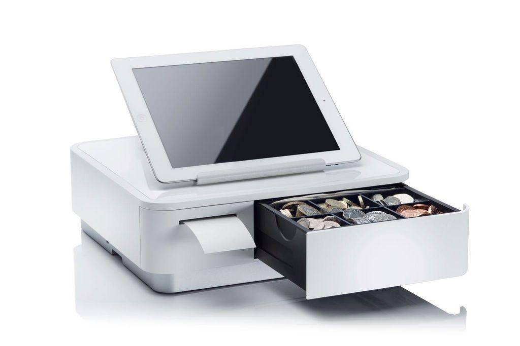 mPOP Cash drawer with integrated receipt printer Black
