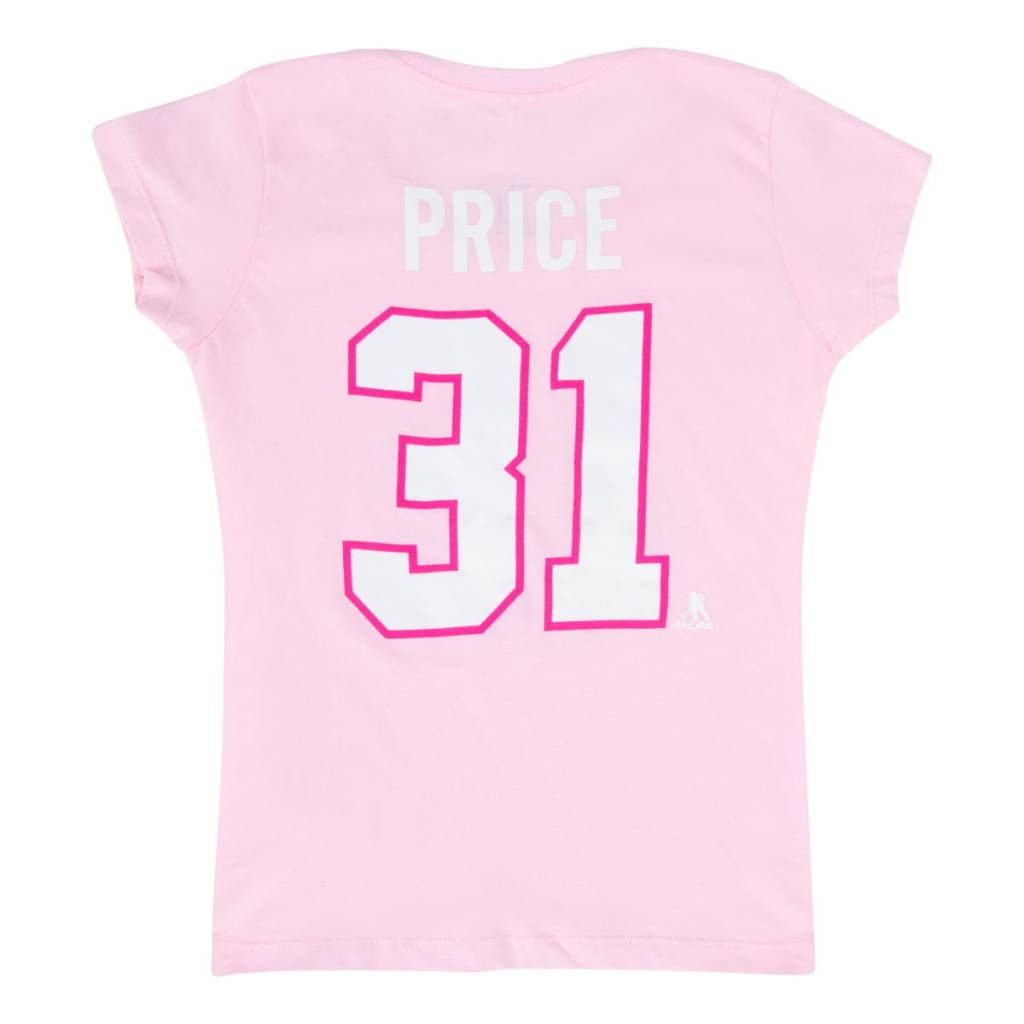 Outerstuff CAREY PRICE #31 JUNIOR PINK PLAYER T-SHIRT
