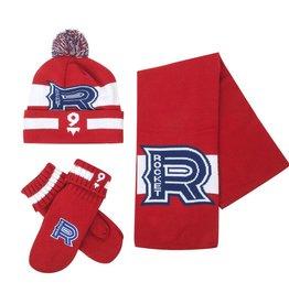 Ideal Knitwear ENSEMBLE ADULTE EN TRICOT ROCKET ROUGE