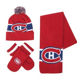 Ideal Knitwear ENSEMBLE ADULTE EN TRICOT ROUGE CANADIENS