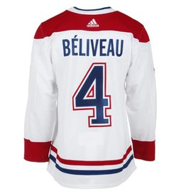 Adidas Jean Béliveau Authentic Pro Heat Press White Jersey
