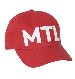 Pop Headwear Chic Red Mtl Hat