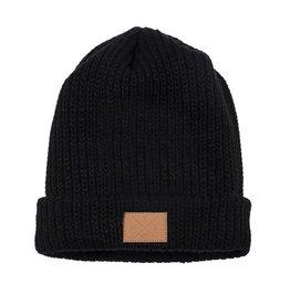 Pop Headwear Chic Black Hockey Sticks Knit