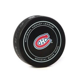 Club De Hockey Game Used Puck February 7 2019 Vs. Jets