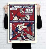 Uncanny Brands Poster 315e victoire Carey Price - Édition limitée