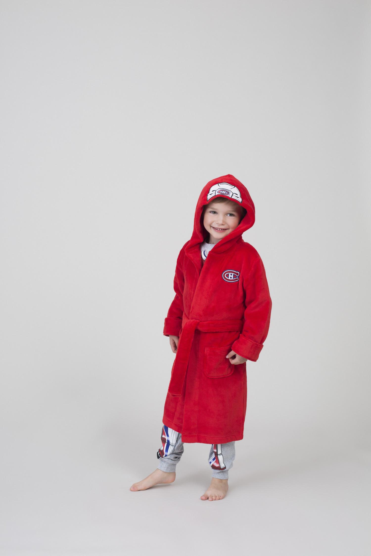 Yeuc0011 Robe De Chambre Rouge Canadiens X Petit Lem Club De Hockey Des Canadiens