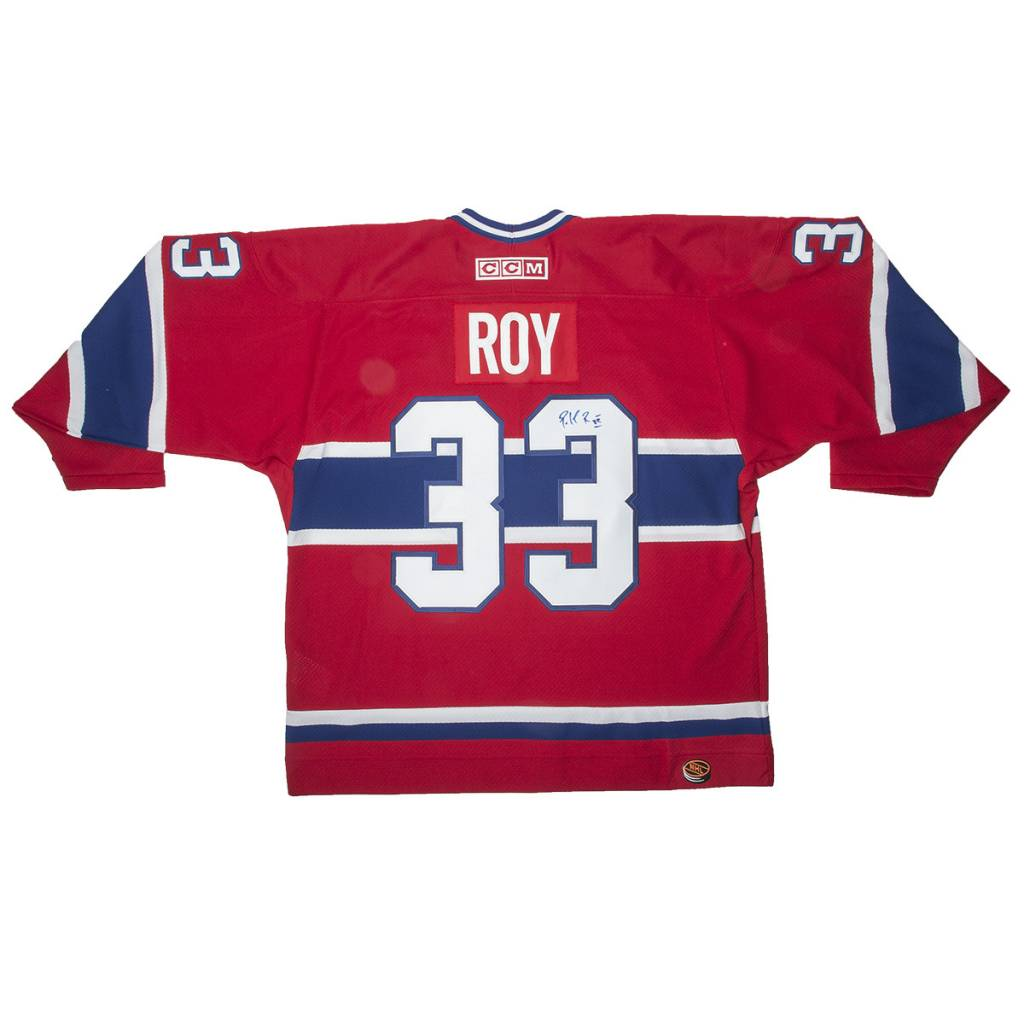 timeless design 9f60d 433b8 Jersey Signed By Patrick Roy∣ Tricolore Sports