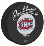 Club De Hockey Signed Puck By Jean Béliveau