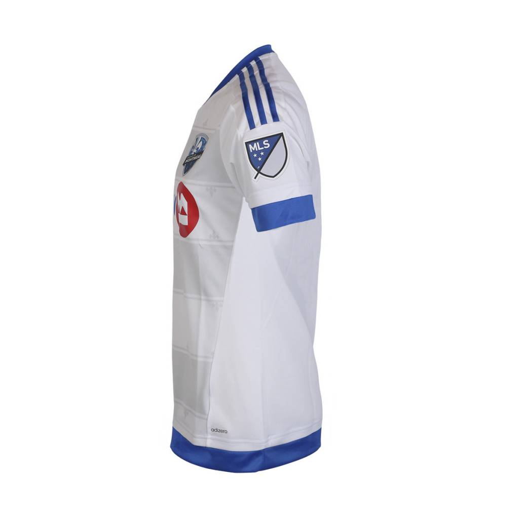Adidas Second maillot authentique manches courtes 2015 blanc impact