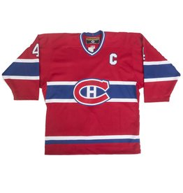 Club Du Hockey Jersey Signed On Logo By Jean B√Âliveau
