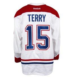 Club De Hockey CHANDAIL PORTÉ 2016-2017 #15 CHRIS TERRY SÉRIE 3 À L'ÉTRANGER