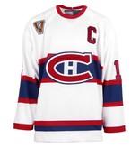 Club De Hockey Chandail vintage blanc signé par yvan cournoyer sur logo