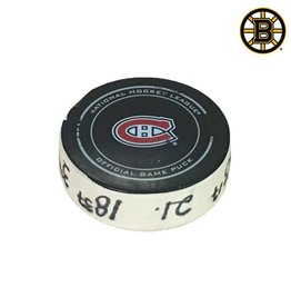 Club De Hockey BRAD MARCHAND GOAL PUCK (17) 19-JAN-2016