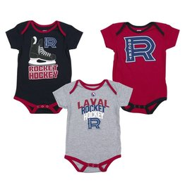 Outerstuff Baby 3 Pack Rocket Pyjama