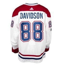 Club De Hockey CHANDAIL PORTÉ 2017-2018 #88 BRANDON DAVIDSON SÉRIE 1A À L'ÉTRANGER