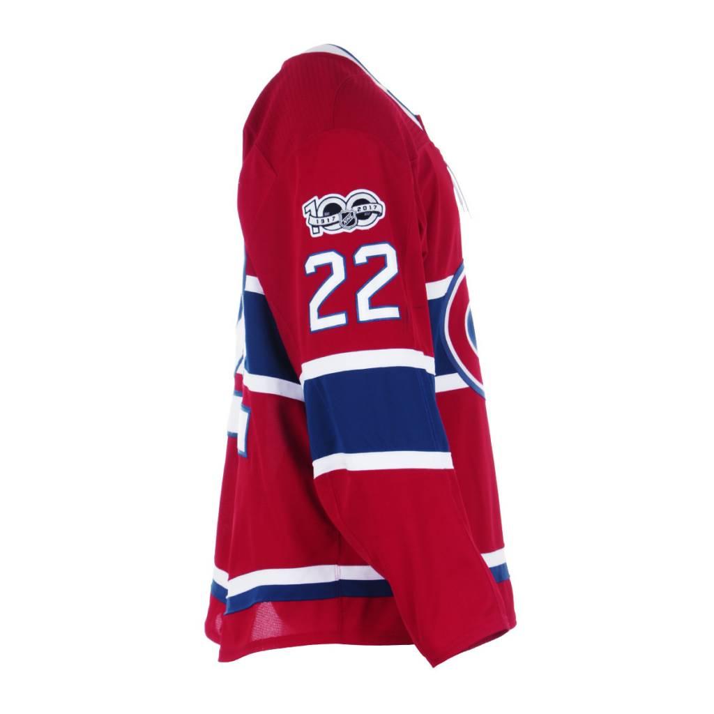 Club De Hockey Chandail porté 2017-2018 #22 karl alzner série 1 àdomicile