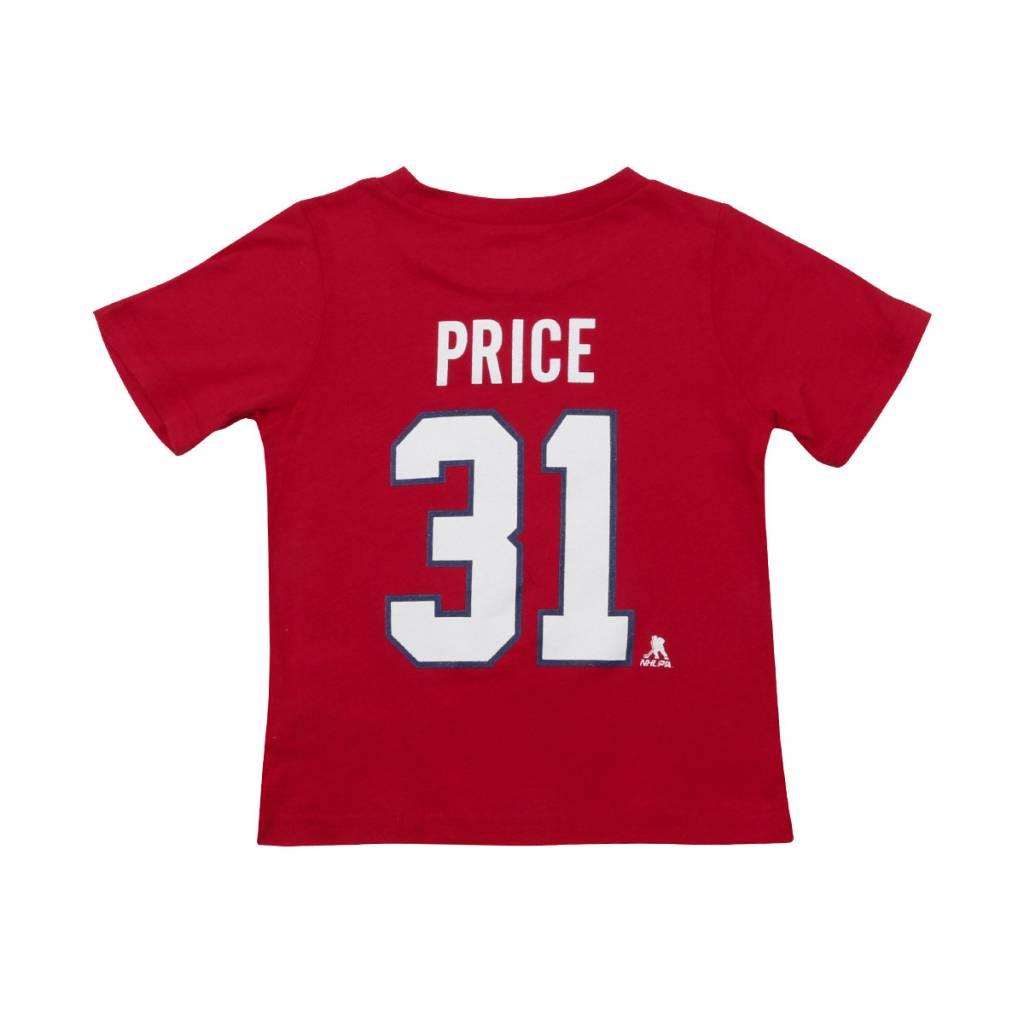 Outerstuff T-shirt joueur bébé #31 carey price