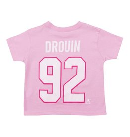 Outerstuff JONATHAN DROUIN #92 KID'S PINK PLAYER T-SHIRT