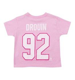 Outerstuff T-shirt joueur enfant #92 jonathan drouin rose