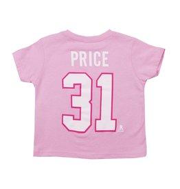 Outerstuff T-shirt joueur enfant #31 carey price rose