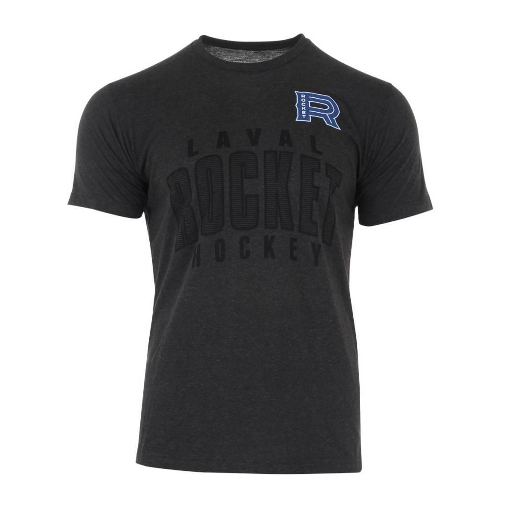 47' Brand Logo Blac On Grey T-Shirt