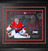Club De Hockey *édition limitée* cadre 10x10 autographié par carey price record 557 matchs