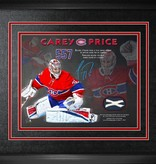 Club De Hockey *LIMITED EDITION* CAREY PRICE 10x10 AUTOGRAPHED FRAME WITH NET FROM 557TH GAME