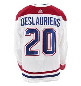 Club De Hockey 2017-2018 #20 NICOLAS DESLAURIERS AWAY SET 2 GAME-USED JERSEY