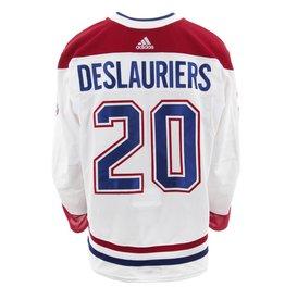Club De Hockey 2017-2018 #20 NICOLAS DESLAURIERS AWAY SET 3 GAME-USED JERSEY