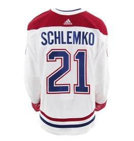Club De Hockey Chandail porté 2017-2018 #21 david schlemko série 2 àl'étranger