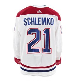 Club De Hockey Chandail porté 2017-2018 #21 david schlemko série 3 àl'étranger