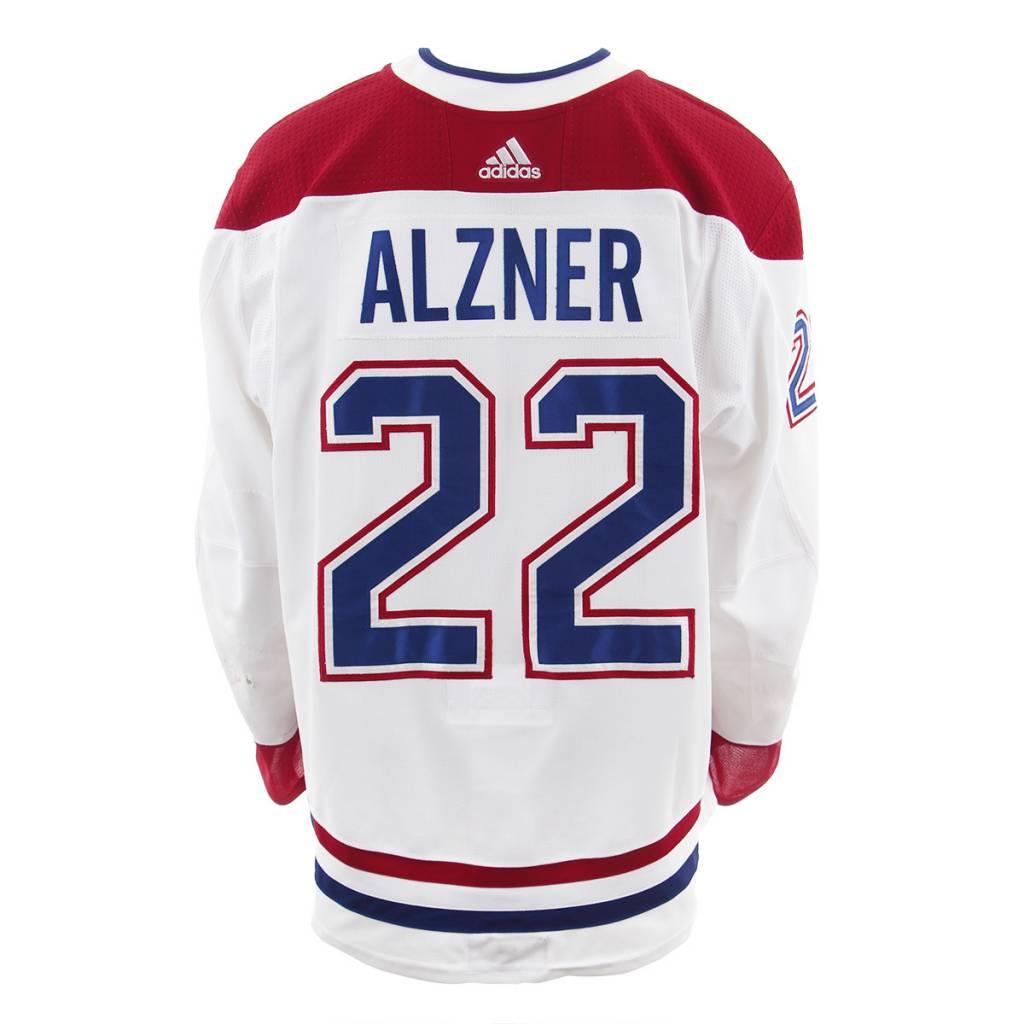 Club De Hockey Chandail porté 2017-2018 #22 karl alzner série 3 àl'étranger