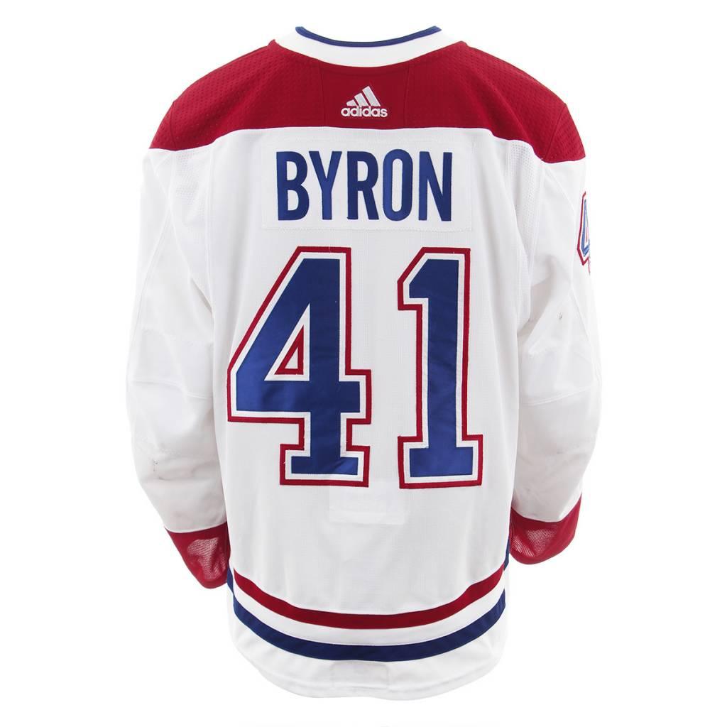 Club De Hockey CHANDAIL PORTÉ 2017-2018 #41 PAUL BYRON SÉRIE 2 À L'ÉTRANGER