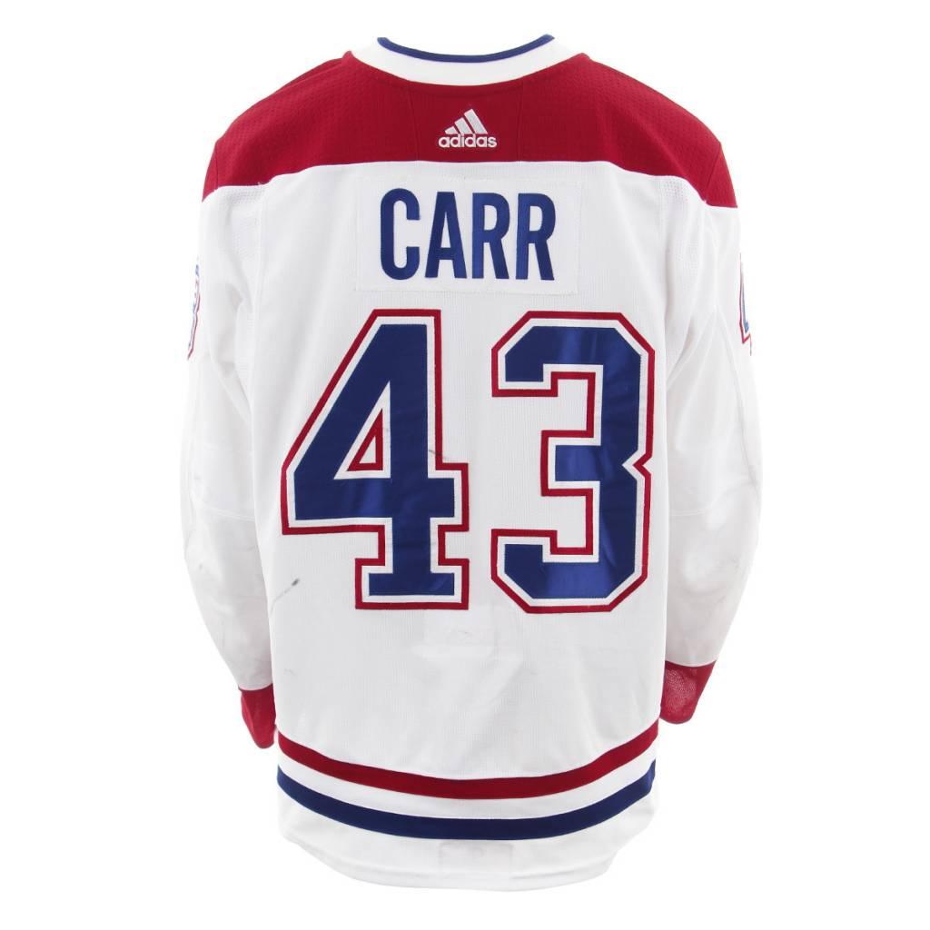 Club De Hockey 2017-2018 #43 Daniel Carr Away Set 3 Game-Used Jersey
