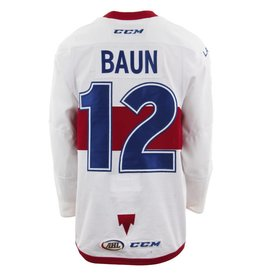 Club De Hockey 2017-2018 #12 Kyle Baun White Game-Used Jersey