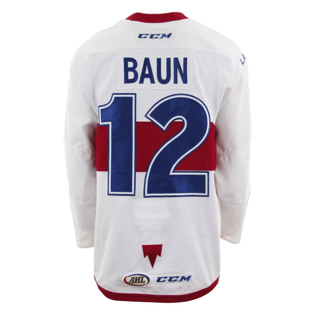 Club De Hockey 2017-2018 #12 Kyle Baun White Game-Used Jersey